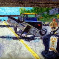 """""""Accident"""" Oil on canvas"""