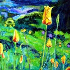 """""""Auburn Poppies"""" Oil on canvas"""