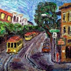 """Beach and Hyde"" Oil on canvas"