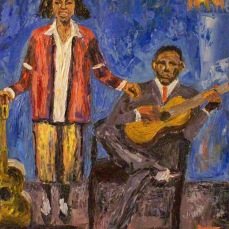 forrest_blues_singers_memphis_minnie_and_kansas_joe_oil_on_board_11x14_2011_w