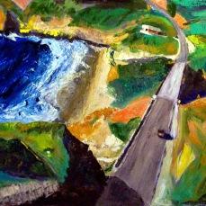 """Hwy 1 Stinson Beach"" Oil on canvas"