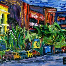 """Los Angeles Hollywood Side Street 2"" Oil on canvas"