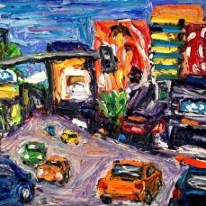 """Los Angeles Sunset Blvd. 1"" Oil on canvas"