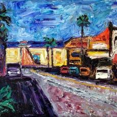 """""""Manhattan Beach 1"""" Oil on canvas"""