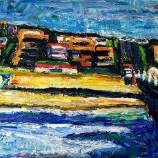 """""""Manhattan Beach 2"""" Oil on canvas"""