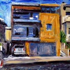 """""""Manhattan Beach House"""" Oil on canvas"""
