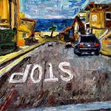 """Manhattan Beach Street"" Oil on canvas"