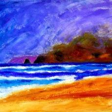 """Montaro Beach"" Oil on canvas"