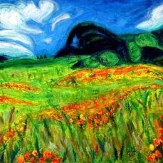 """Mt. Diablo"" Oil on canvas"
