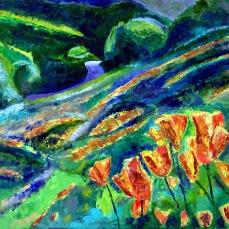 """Mt. Diablo Poppies"" Oil on canvas"