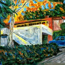 """Palos Verdes House"" Oil on canvas"