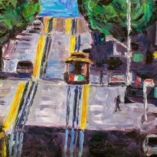 """""""Powell Street"""" Oil on canvas"""