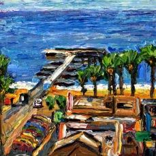 """""""Venice Beach Pier"""" Oil on canvas"""