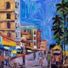 """""""Venice Beach Strand"""" Oil on canvas"""