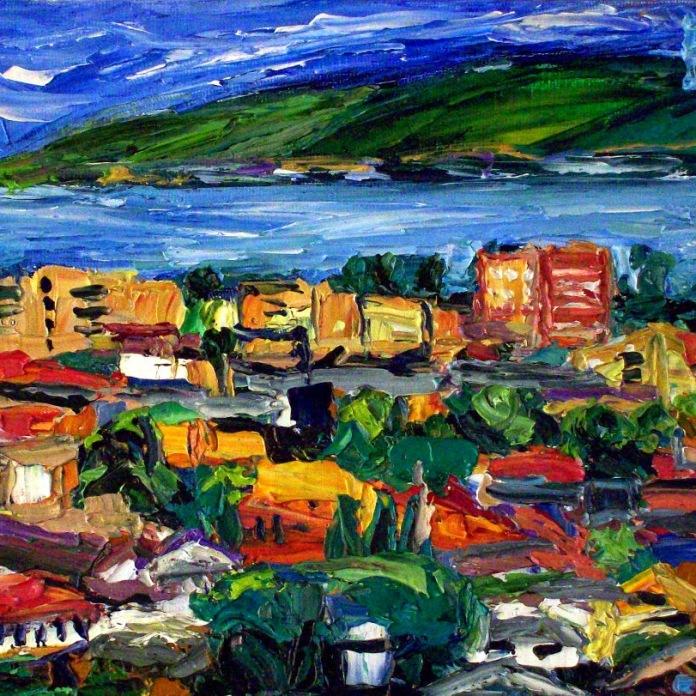 """""""Venice Beach View"""" Oil on canvas"""