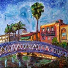 """Canal Bridge"" Oil on canvas"